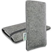 Stilbag Funda de fieltro 'FINN' para Huawei Nexus 6P - Color gris/negro