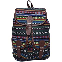 Ruff Brown Color Canvas Casual Backpack College Bag Shoulder Backpack Unisex Backpack