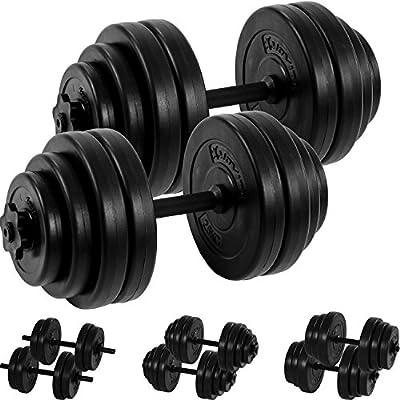 MOVIT® Kurzhantel 2er Set, Varianten 20kg, 30kg, 40kg, Stangen gerändelt mit Sternverschlüssen von MOVIT