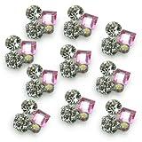 10x UV Acryl Legierung 3D Nagelsticker Pink Strass Nail Art