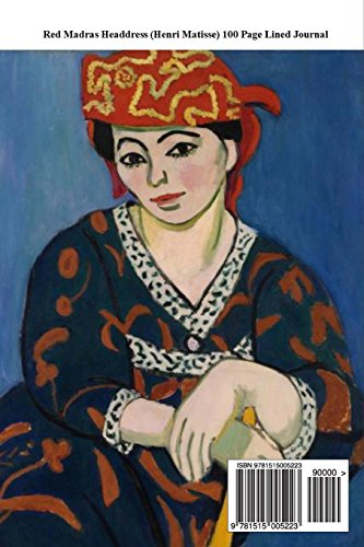 Red Madras Headdress (Henri Matisse) 100 Page Lined Journal: Blank 100 page lined journal for your thoughts, ideas, and inspiration.