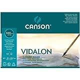 Canson Vidalon - Bloc papel de acuarela, A4, color blanco natural