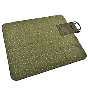 Confidence Camping Picnic Blanket With Roll Bag Green