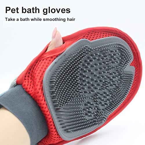 Erduo Pet Baden Massage Handschuhe Hund Katze Haar Kamm Reinigungsbürste Kamm Tiermassage Haarentfernung Hundesalon Lieferant