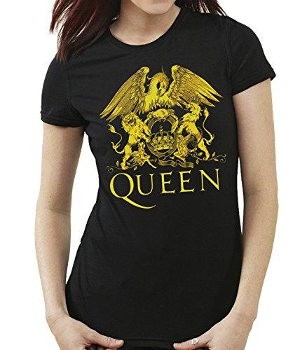 35mm - Camiseta Mujer - Queen - Rock - Women's T-Shirt, Negra, M