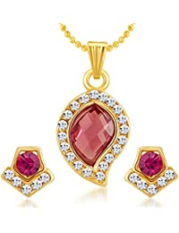 Sukkhi Sublime Gold Plated AD Pendant Set For Women