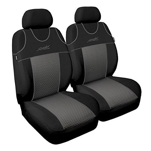 Premium Kunstleder Sitzbezüge Sitzbezug Schonbezüge für Renault Laguna Grau Set