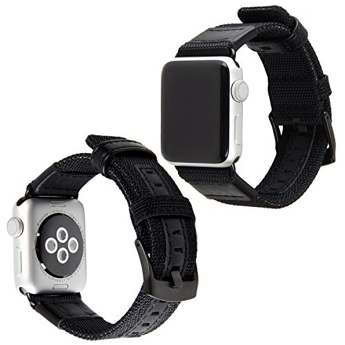 Für Apple Watch 38mm Armband, lala Pink Premium Nylon Woven Strick EReplacement Uhrenarmband Sportarmband Ersatzband mit Schließe für Apple Watch Serie 3 2 1 Nike + Sport Edition,Schwarz (Für Nike Sport-uhren Männer)