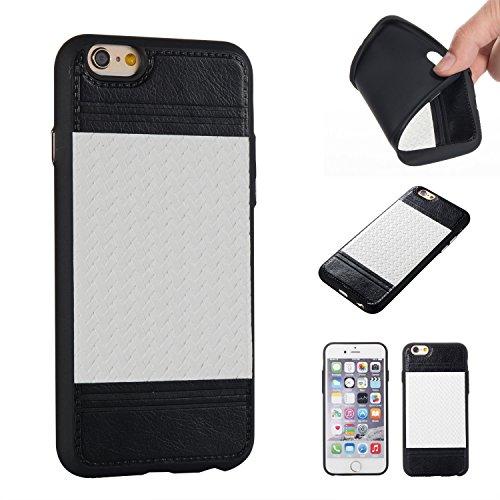 EKINHUI Case Cover Mischfarben Weaving Pattern PU Leder Skin Cover Shell Soft TPU / Silikon Rückseiten Cover Case für iPhone 6 & 6s ( Color : J ) C