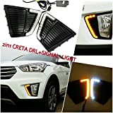 #3: Shoppersville Car DRL Day Time Running Light for Hyundai Creta (Set of 2 with complete wiring)