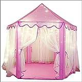 Tienda infantil Zmoon para interior y al aire libre, con diseño de castillo de princesas, con 100luces LED en forma de estrella