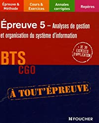 EP5 ANALYSE DE GESTION BTS CGO (Ancienne édition)