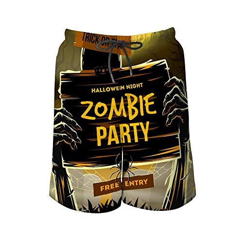 Pantalones de Playa para Hombre, invitación de Halloween a Fiestas Zombies,...
