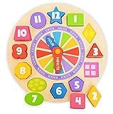 Tooky Toy - Orologio d'apprendimento con forme per addattare e decorazione fosforescente - Giocattolo educativo per la prima infanzia