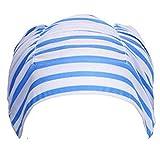 Chapeau de natation, GreatestPAK Femme unisexe filles cheveux longs bonnet de bain Drapé extensible (D, 1 PC)
