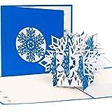Cartolina di Natale 'Fiocchi di neve' pop-up 3D, fatto a mano, Natale, Neve, biglietto, biglietto di Natale, biglietto d' auguri, biglietti d'auguri