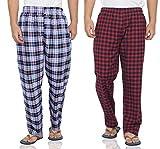 Fflirtygo Mens Pyjama Cotton Combo, 100% Cotton Export Quality Fabric, (Pack of 2)