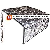 AJ CreationsTM Black Decorative Fridge Top Cover And 2 Fridge Handle Covers