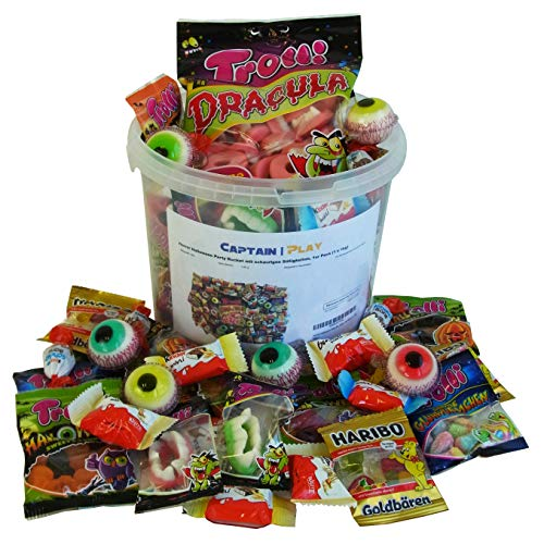Horror Halloween Party Bucket mit schaurigen Süßigkeiten, 1er Pack (1 x 1kg)
