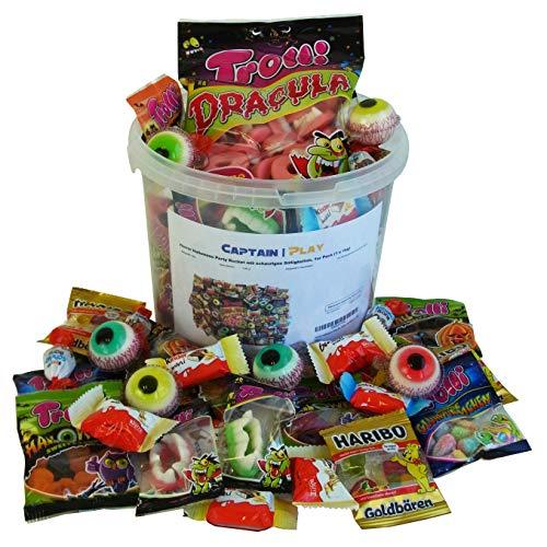 Horror Halloween Party Bucket mit schaurigen Süßigkeiten, 1er -