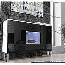 Muebles Bonitos – Aparador colgante de diseño Varedo blanco y negro