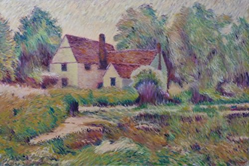 das-ferienhaus-76cmx51cm-original-impressionistische-malerei-lott-hutte-flatford-dedham-vale