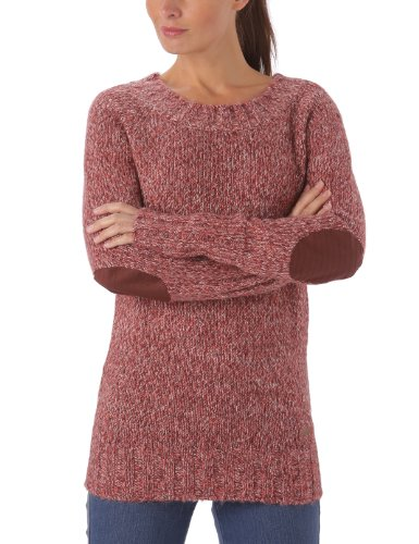 Bench Damen Pullover Pullover Turbulence Rot (rumbar marl) Large
