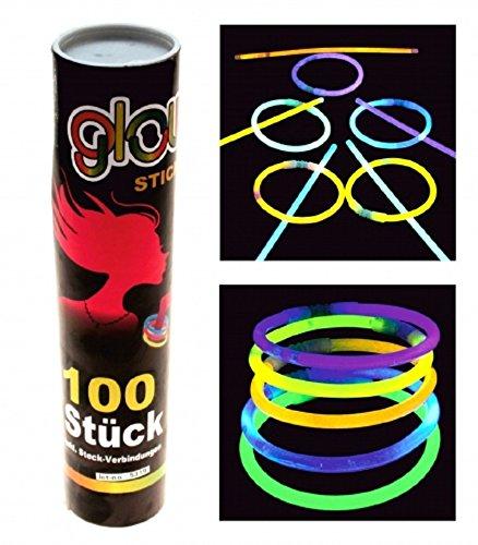 50 x Knicklichter Knicklicht 200 x 5 mm ver. Farben Glowstick Party Karneval
