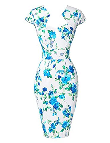 Vintage Formal Prom Gowns Cap Sleeve Cocktail Evening Party Bodycon Dresses S YF7597-8