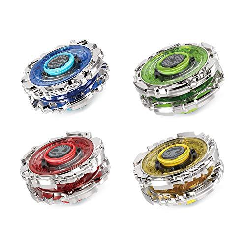 4D Fusion Modell Metall Masters Beschleunigungslauncher Speed Kreisel Innoo Tech 4 St/ück Kampfkreisel Set