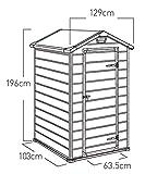 Keter Gerätehaus Manor 4x3, Grau, 1,8m³ - 9