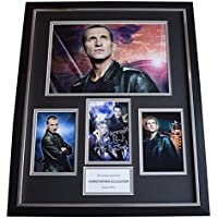 Sportagraphs Christopher Eccleston SIGNED Framed Photo Autograph Huge display Doctor Who COA PERFECT GIFT
