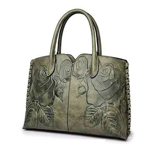 Rex rabbit-SS Mode Ethnic Style Handtasche Peony Blume Handtasche Sommer-Lederhilfe Chinese Style Damen Handtaschen Schulter Tasche Messenger Tasche,C