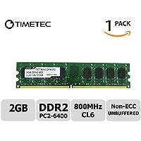 Timetec Hynix IC (73tt80nu2r8–2G) 2G Ddr2800MHz (PC26400) non ECC unbuffered 1.8V CL6DIMM a 240pin PC (Samsung Buffered Memoria)