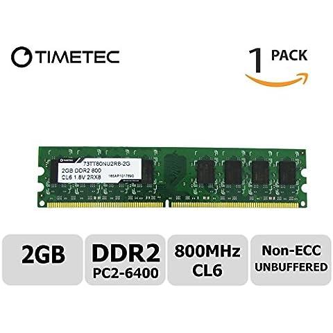 Timetec Hynix (hymp112u64cp8-s6) 1 G DDR2 800 mhz (PC2 - 6400) no ECC sin búfer 1.8 V CL6 240 pin DIMM PC de sobremesa ordenador memoria RAM memoria actualización