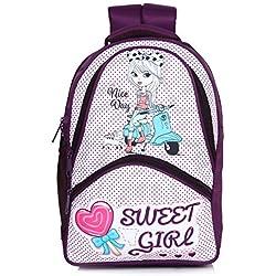 Bag-Age School Satchels (30 L ) Sweet Girl Casual Backpack School Backpack (Purple)