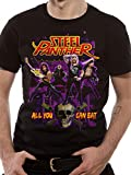 LoudClothing Men's Steel Panther-Ayce Short Sleeve T-Shirt