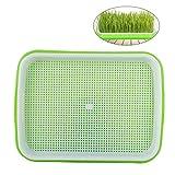 OUNONA Tray germination de semences de semence d'herbe de blé sans terre, plastique de qualité alimentaire, PP (vert)