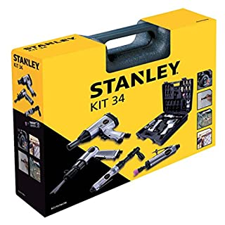 Stanley Accessories for Air Compressor, Air Tool Kit (Pack of 34) 8221074STN