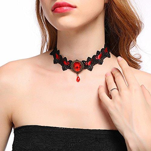 Overmal Gothic Einfache Schmuck Halsband Halskette mit Diamant Schlüsselbein Kette