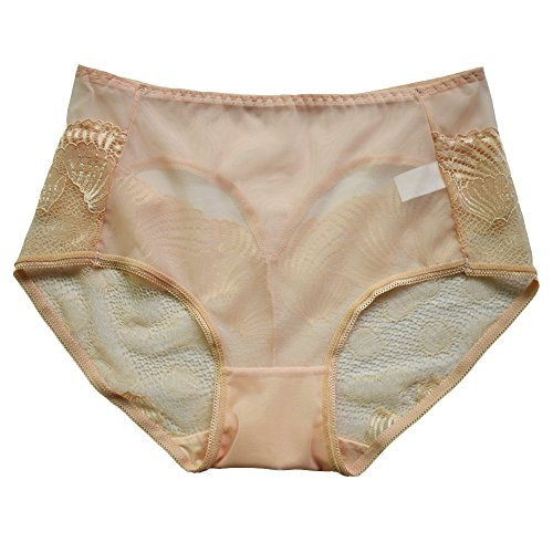 MEINA Damen Panties Atmen Sexy Floral Lace Back Boyshorts Komfort Slips (Boyshort Atmen)