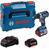 Bosch Professional 18V System Akku Bohrschrauber GSR 18V-60 C (max. Drehmoment: 60 Nm, inkl. 2x5.0Ah Akku + Ladegerät…