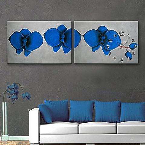 ZRF-pittura Clock Non blu fiore decorazione camera da letto soggiorno sala da pranzo i bambini camera orologio scatola ,40 * 60CM?senza