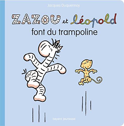 Zazou et Léopold font du trampoline
