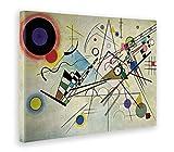 Giallo Bus - Cuadro - Impresion En Lienzo - Kandinsky - Composizione N 8 - 70 X 100 Cm