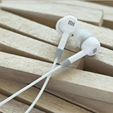 KRYPT DESIGN Ear Headphone with Mic for All Smartphones, White