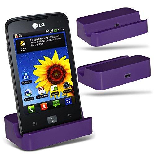 (Purple)LG Optimus Hub E510 Micro-USB-Desktop-Ladestation stehen Berg By ONX3