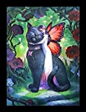 3D Bild Elfe mit Katze - Cat & Fairy von James Ryman | Fantasy Engel Poster