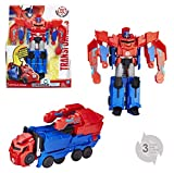 Hasbro Transformers C0642EU4B0067 - Robots In Disguise 3-Step Changers Optimus Prime, Actionfigur