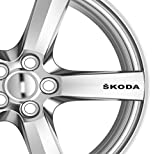 6x Skoda Alufelgen Aufkleber Aufkleber Kleber Premium Qualität Octavia Fabia
